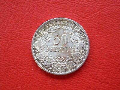 50 Pfennig 1877 D - ERHALTUNG!!!