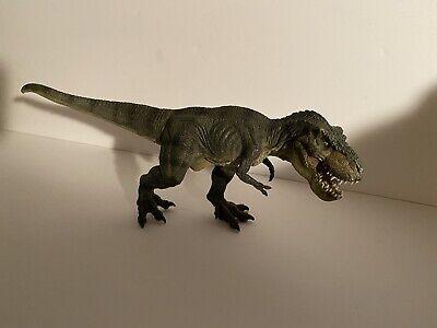 PAPO Green Tyrannosaurus Rex Dinosaur MOVING JAW - Running Pose T-Rex Figure