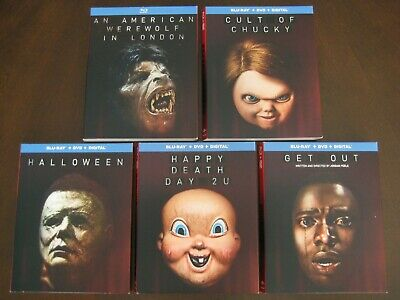 Halloween Chucky Movies (SLIPCOVERS AMERICAN WEREWOLF CULT OF CHUCKY HALLOWEEN HAPPY DEATH DAY GET)