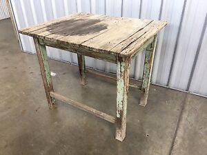 Antique Rustic Shabby Farmhouse Table Keperra Brisbane North West Preview