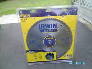 """IRWIN METAL BLADE - 14"""" or 355 mm - 80T Steel Cutting Tennyson Hawkesbury Area Preview"""
