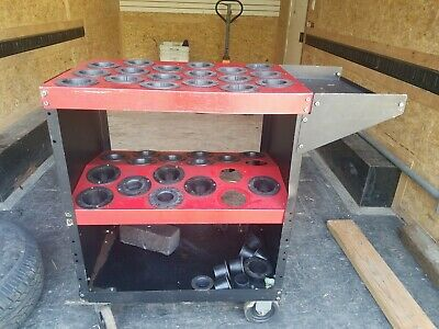 Huot Toolscoot Rolling Cnc Tool Cart Hsk63 Taper-holds 36 Tools