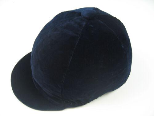 Helmet Cover Kappenüberzug Made Velvet with Elastic Dark Blue XL Made IN England