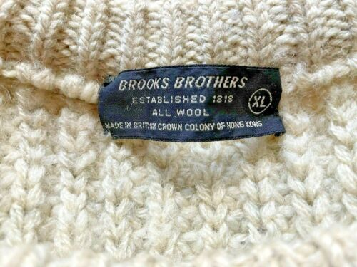 "Brooks Brothers Vintage Wool Sweater made in ""British Crown Colony of Hong Kong"""