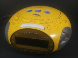 Sony Dream Machine Psyc CD Player Alarm Clock Radio Yellow Tested 90's ICF-CD831