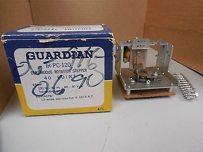 GUARDIAN CONTINUOUS ROTATION STEPPER IR-PC-120 IRPC120 40 POINT 120VDC 1.5A NIB Ir-pc