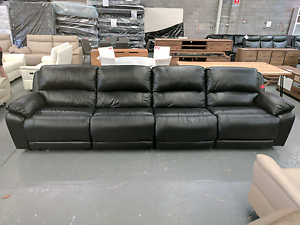 Massive 4 Seat Leather Recliner Lounge- 75% off RRP Eumemmerring Casey Area Preview