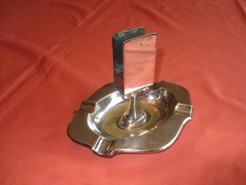 Silverplate Ashtray marked Original Wellner #5(1926-1927)