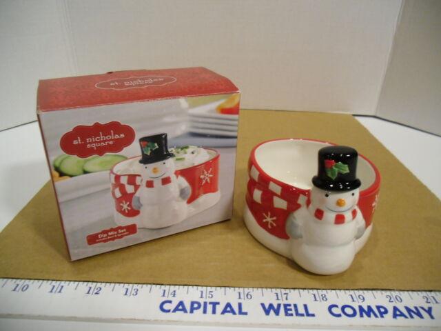 St. Nicholas Square DIP Mix Set Snowman Includes Bowl and Spreader ...