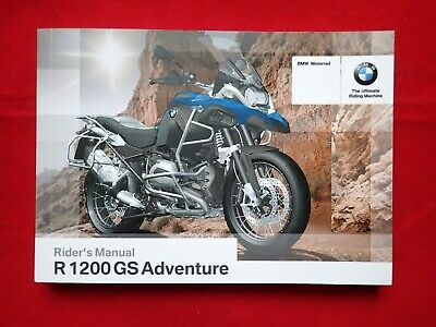 GENUINE 2015 2016 BMW R 1200 GS ADVENTURE RIDER'S OWNERS MANUAL 01 41 8 563 331