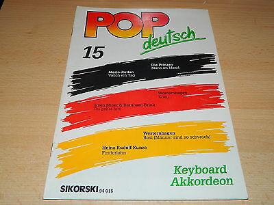 POP Deutsch - Noten und Text für Keyboard und Akkordeon - Sikorski