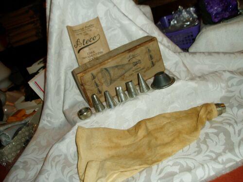 "Antique  ""ATECO"" Standard Cake Ornament Decorator Kit 8 Pc."