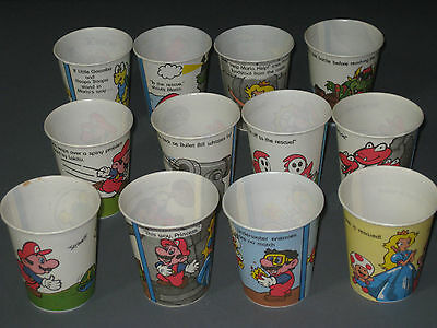 Nintendo Of America Super Mario Bros Dixie Cups 1989 Made In USA (Lot of 12)