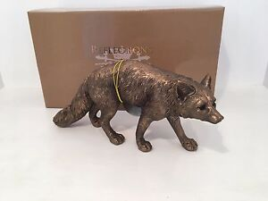 Bronzed Prowling Fox Bronze Reflections by Leonardo Figurine *BRAND NEW BOXED*