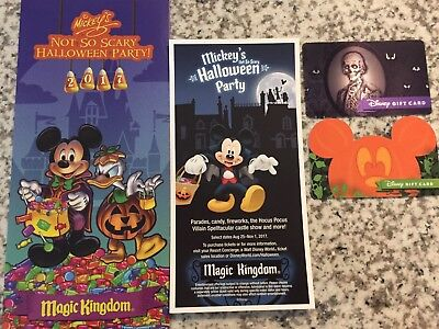 2017 Mickey's Not So Scary Halloween Party-Magic Kingdom-WDW-Park Map+Bonuses](Mickey Halloween Party 2017 Map)