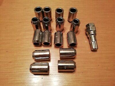 Butzi Chrome Anti Theft Locking Wheel Bolt Nuts /& 2 Keys to fit Vauxhall Antara