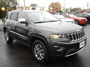 2016 JEEP GRAND CHEROKEE LIMITED 4x4- POWER GLASS SUNROOF, LEATH