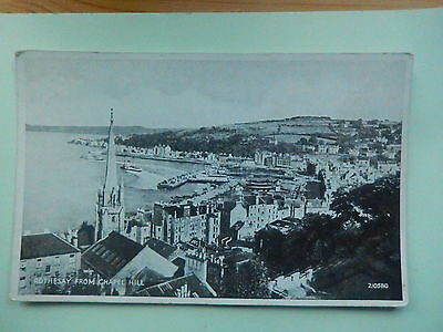 SCOTLAND POSTCARD: ROTHESAY - FROM CHAPEL HILL BY VALENTINES