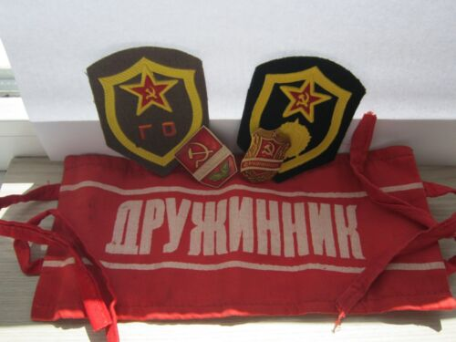 Soviet Warrior Ussr Red Arm patch Badges Stripe security guard Sentry