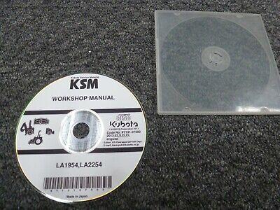 Kubota La1954 La2254 Front End Loader Shop Service Repair Manual Cd