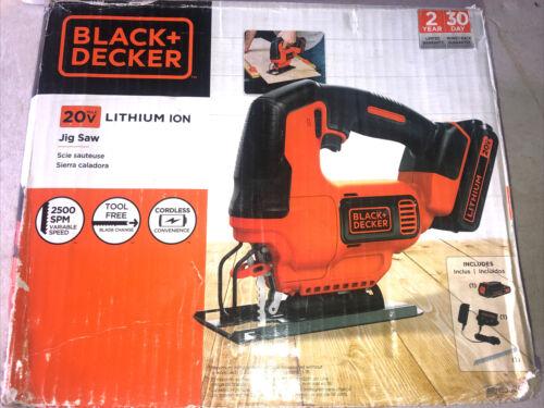 BLACK+DECKER 20V Max Cordless Jig Saw New , BDCJS20C2