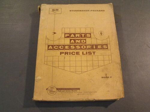 ORIGINAL 1960 STUDEBAKER PACKARD PARTS & ACCESSORIES PRICE LIST BOOK MANUAL