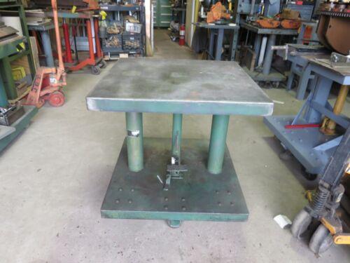 "Lexco Lift Table 30x30x 40""  Steel Casters  2000 Lbs. Wesco, Presto Die Table"