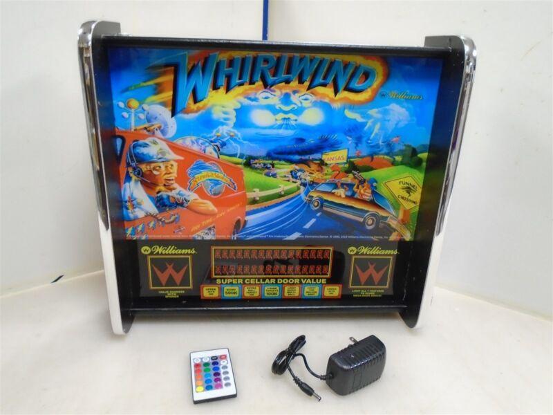 Williams Whirlwind Pinball Head LED Display light box