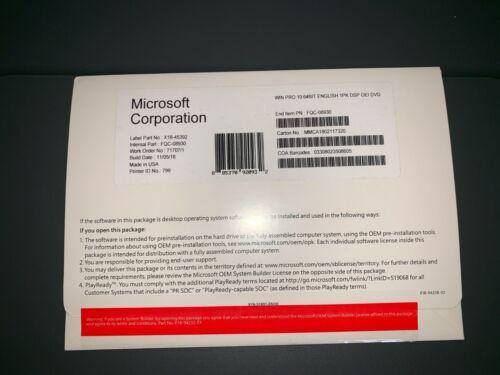 Microsoft Windows 10 Pro PROFESSIONAL 64 bit complete full  version with key