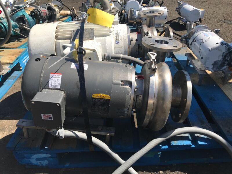 Waukesha Cherry Burrell Model 2065 Pump w/ Baldor JMM3559T 3 Phase Motor 2.5x4