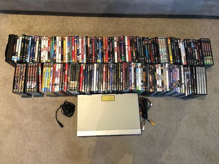DVD Player and Collection (Diehard, Batman, Godfather)
