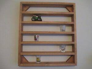 shot glass wall display shelf 5 collectibles legos star. Black Bedroom Furniture Sets. Home Design Ideas