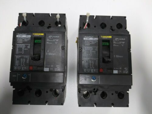 SQUARE D JJ 250 POWERPACT 225 AMP BREAKER 3 POLE 600 VAC