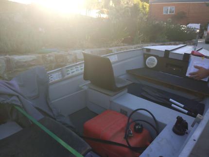 Tinnie fishing boat
