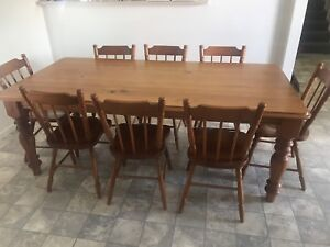 8-seater dining table and chairs