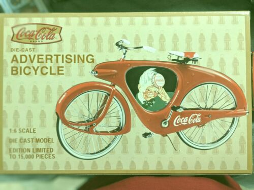 XONEX COLA COLA ADVERTISING BICYCLE 1:6 SCALE BEAUTIFUL DIE CAST LIMITED EDITION