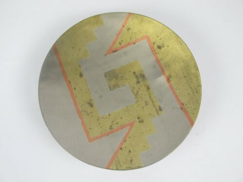 Vintage Blanche METALES CASADOS Mexico Silver Copper Brass Modernist Bowl Dish