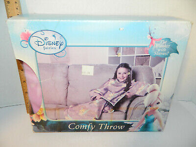 - AS IS Box Disney Fairies Tinkerbell comfy throw with sleeves Plush Blanket