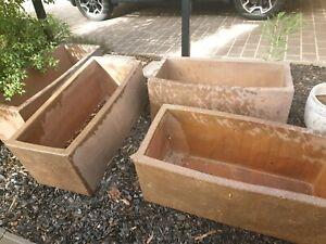 Concrete planter boxes x 4