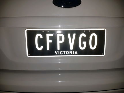 Number plates CFPVGO xr6