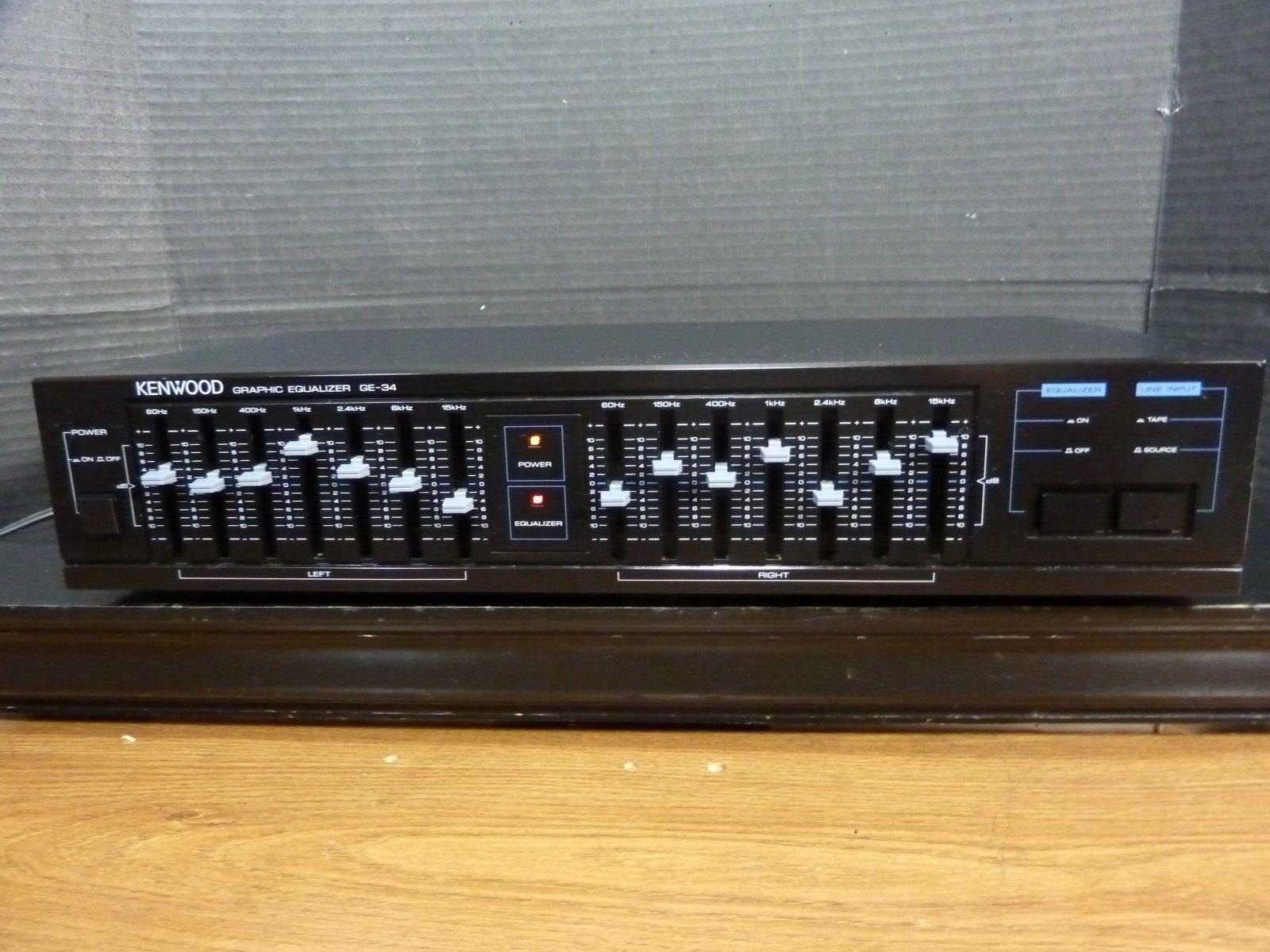 Kenwood Ge 34 Stereo Graphic Equalizer 7 Band Dual Ebay Audio