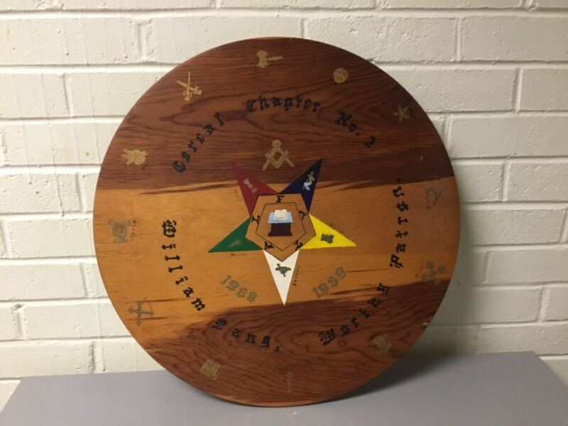 VINTAGE KNIGHTS OF COLUMBUS? CEREAL CHAPTER NO.2 CIRCULAR WALL HANGING PLAQUE