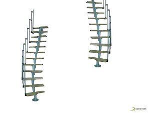 Escalier gain de place compact modulaire minka twister ebay for Escalier colimacon gain de place