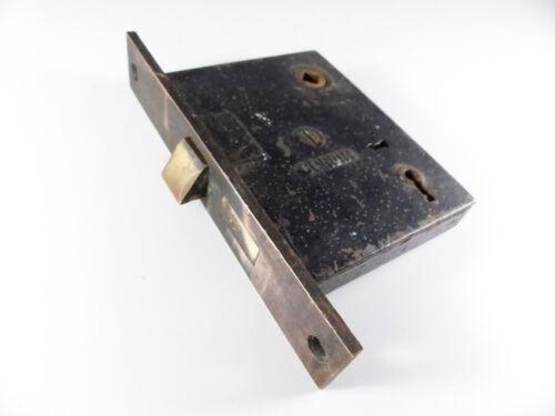 """Corbin Vintage Door Mortise Lock, Bronze 6"""" x 1"""" Faceplate"""