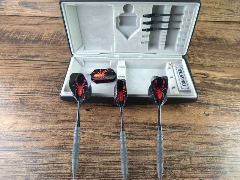 Black widow  dart board set kit pieces missing read description tungsten