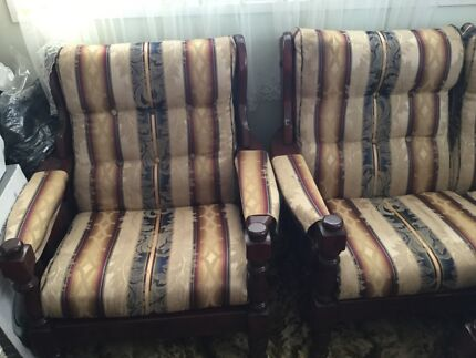 Wooden lounge suite Toowoomba 4350 Toowoomba City Preview