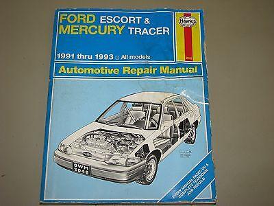 1991 1992 1993 FORD ESCORT MERCURY TRACER HAYNES REPAIR MANUAL 2046 ()