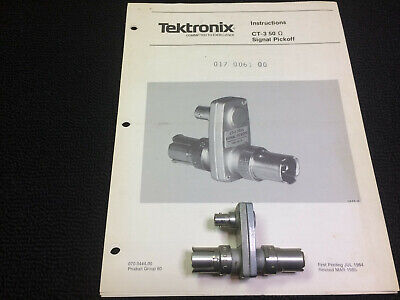 Tektronix Ct-3 50 Ohm Signal Pickoff With Instruction Book