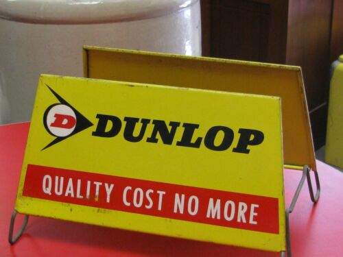 VINTAGE METAL DUNLOP POINT OF SALE TIRE DISPLAY STAND