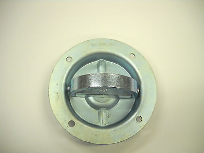 16 - D Ring 6000# Recessed Swivel Tie Down With Back Plates Trailer Truck